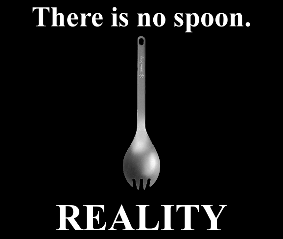 Reality — There is no spoon.